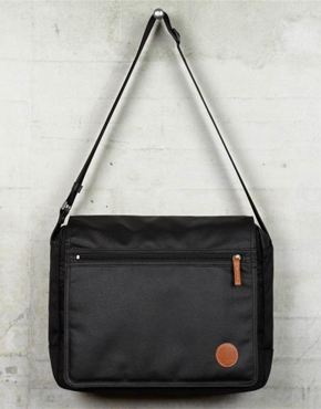 Fred Perry Black Coated Nylon Shoulder Bag 82
