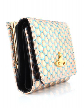 90a032b072 [Vivienne Westwood]Honeycomb metallic small flap over purse